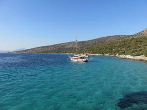 Le long de la Méditerranée
